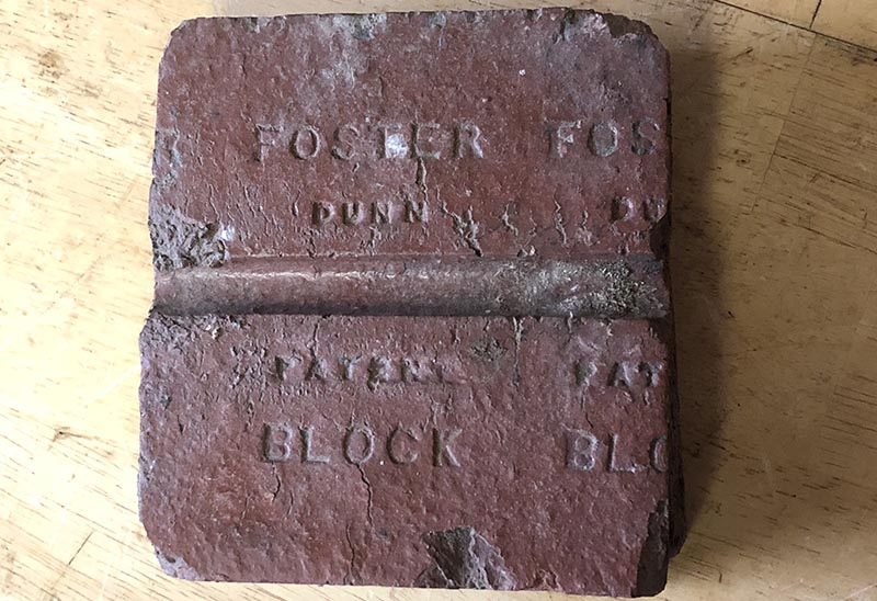 Dunn Patent stamped on Pavers