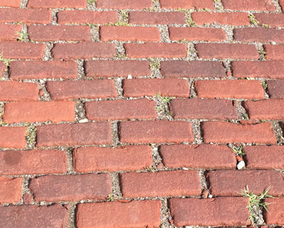 The historic brick installation method used just sand and gravel