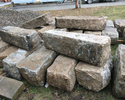 These antiques stone blocks were used for seating around a fire pit
